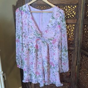 NEW Storia Floral Romper Ruffle Large